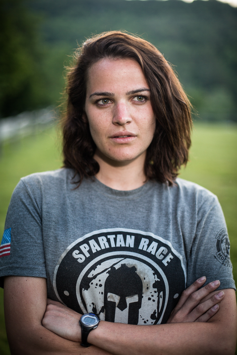 Neely Fortune stands for a portrait after the Agoge 60 Spartan race on Sunday, June 19, 2016, at Riverside Farm in Pittsfield, Vermont.