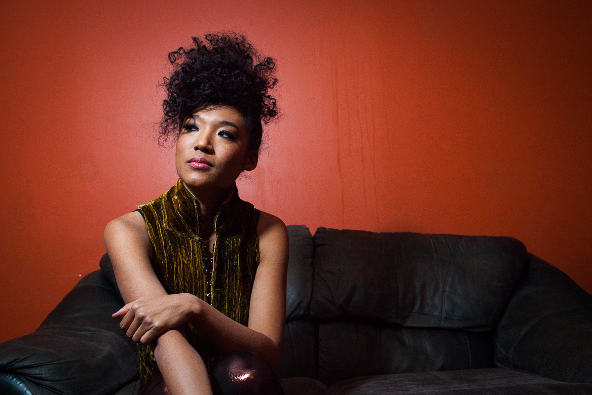 Judith Hill poses for a portrait in the Green Room at Higher Ground in Burlington on December 16, 2014. By Vermont Photographer Monica Donovan for Billboard Magazine