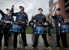 Blue Thunder in front of Seahawks Stadium