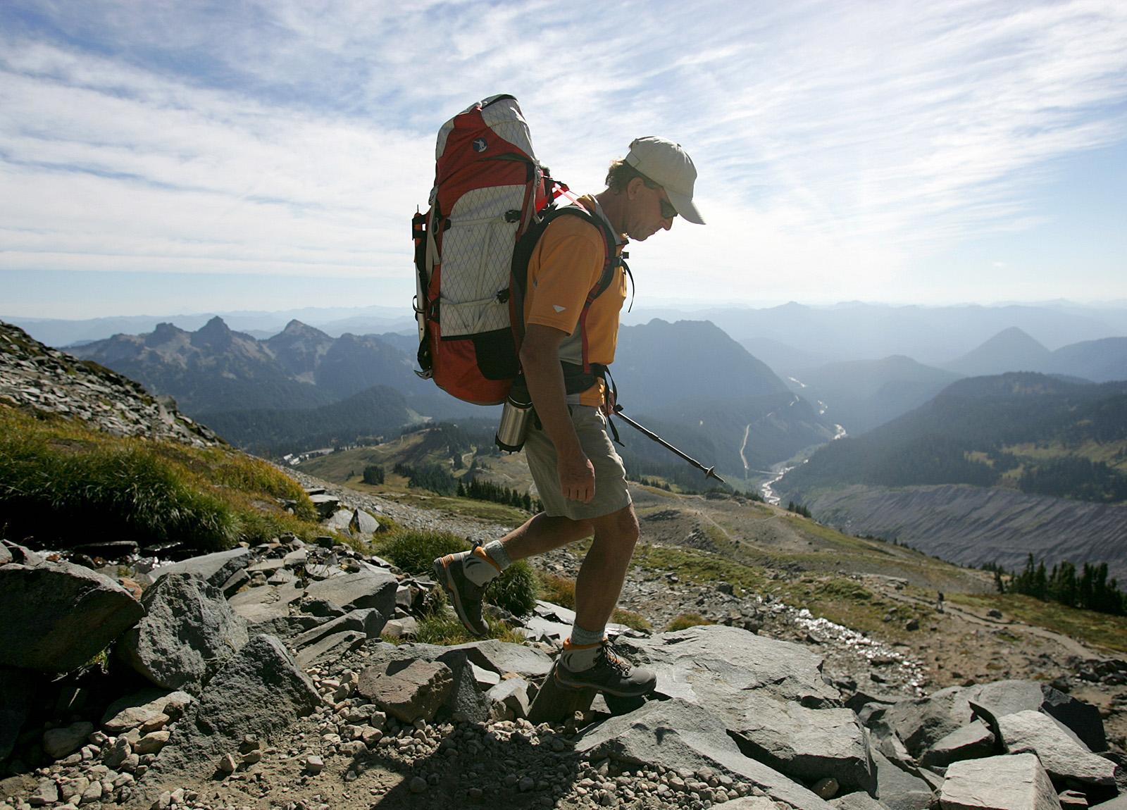Ed Viesturs on Mount Rainier