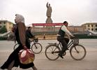 Chairman Mao statue in Kashgar, China