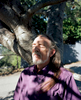 Ganymede takes a deep breath outside his home in Oakland, Calif. on November 4, 2016. Ganymede was one of the men featured in the Chronicle's first feature film called Last Men Standing about long-term HIV survivors.