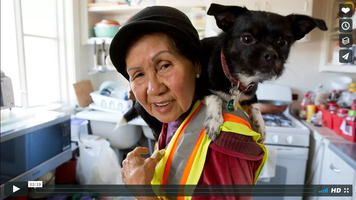 Suu Ngo, 67, has been working as a street sweeper with the DPW the past five years along Irving Street in the Inner Sunset. She talks about the importance of family in her life and the urge to keep working.Read the story here.Suu's video went viral with over 5.7 million views on the San Francisco Chronicle's Facebook post. A Go Fund Me was started for Suu which allowed her to go back to visit her 90+ year old mother and family in Vietnam.