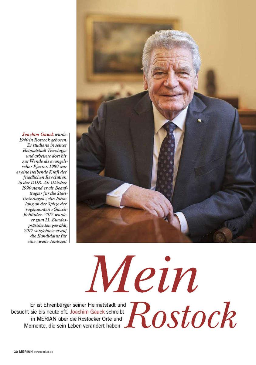 Merian, Germany, former German  President Gauck