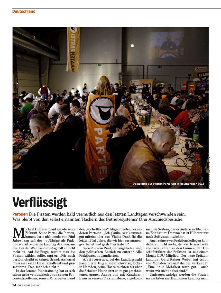 SPIEGEL, Germany, Pirate Party