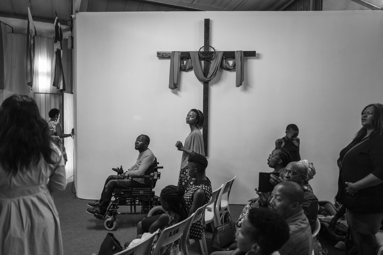 Cape Town, South Africa: Believers attend a church service at Langa Baptist church, Langa is Cape Town's oldest township, established in 1923. About 1.5 million people live in townships within city limits. Langa is Cape Town's oldest township, established in 1923. About 1.5 million people live in townships within city limits. South Africa is according to TIME the most unequal country on the planet. A surge in Cape Town's murder rate has raised concerns that it could soon challenge for the unenviable title of the world's most dangerous city.January 12, 2020 - Cape Town, South Africa: Believer attend a church service at Langa Baptist church, Langa is Cape Town's oldest township, established in 1923. About 1.5 million people live in townships within city limits. January 12, 2020 - Cape Town, South Africa: Believer attend a church service at Langa Baptist church, Langa is Cape Town's oldest township, established in 1923. About 1.5 million people live in townships within city limits.
