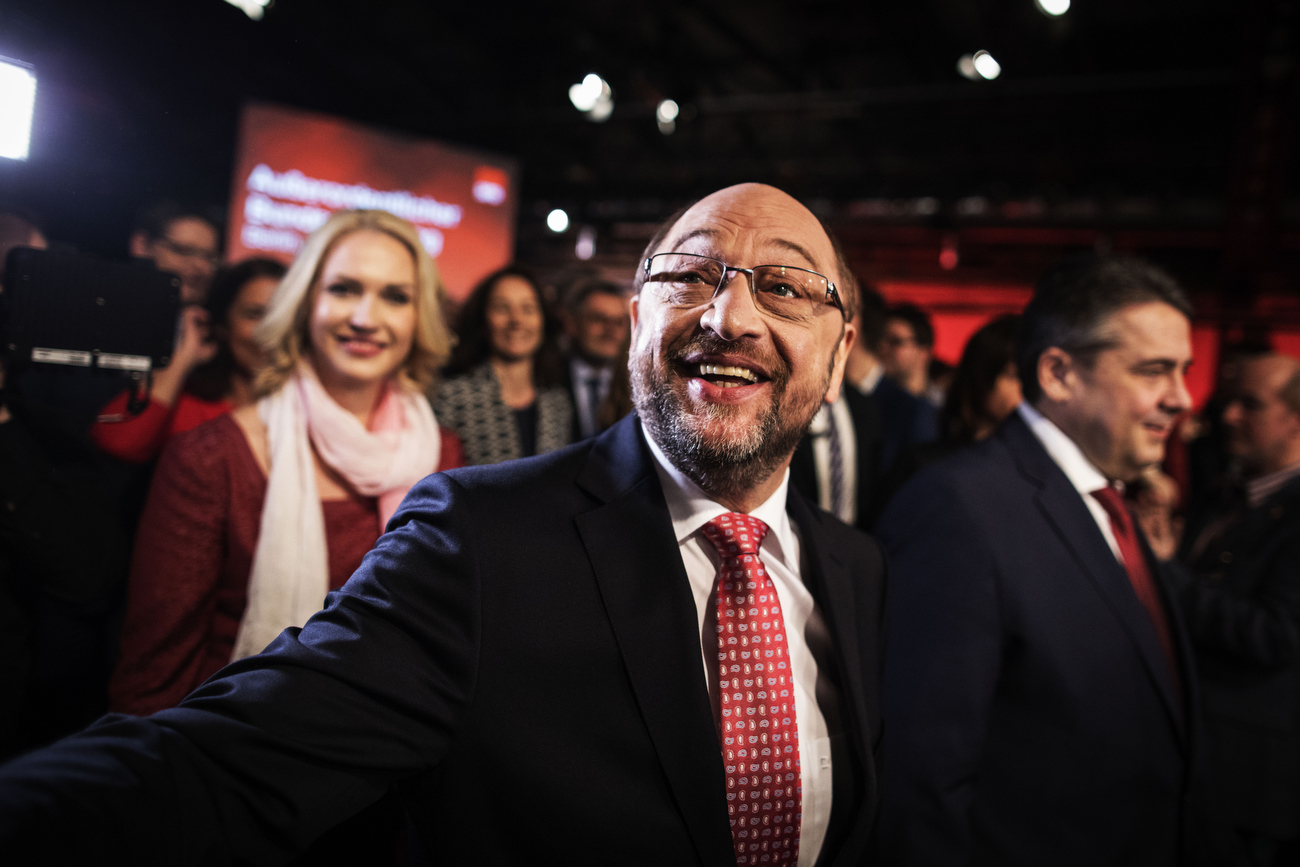 March 19, 2017 - Berlin, Germany:  Former European parliament president and candidate for Chancellor of Germany's social democratic (SPD) party Martin Schulz arrives at  the  special Federal Party Conference that at its end saw Schulz elected for new party leader by 100 % of the delegates votes.  Schulz, who announced his candidacy in January has since seen strong support in recent polls and will be officially nominated at the congress. Germany is scheduled to hold federal elections in September 2017.