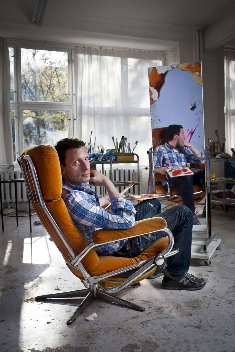 German painter Norbert Bisky at his studio.