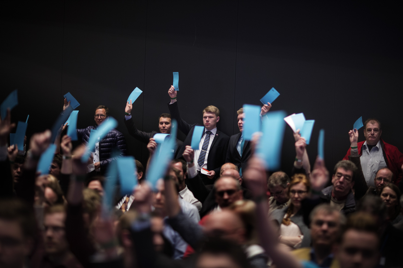 April 30, 2016 - Germany,  Stuttgart: About 2000 registered members attend the party congress of the right-wing party Alternative für Deutschland (AfD). The rapidly growing party is expected to adopt an anti-Islamic manifesto, emboldened by the rise of other European anti-migrant groups like Austria's Freedom party.