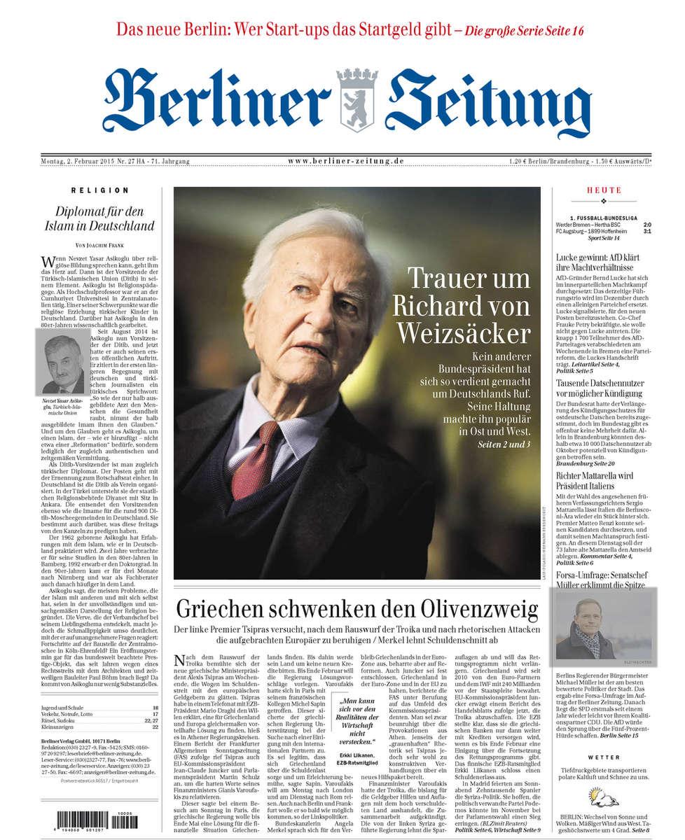 Berliner Zeitung, Richard von Weizäcker, 02.02.2015