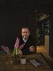 March 06, 2019 - Berlin, Germany: Der Schriftsteller Cordt Winkler aka Dennis Stratmann im Lokal The Greens - Coffee&Plants;.Cordt Winkler ist der Autor des Buches: ICH ist manchmal ein andererMein Leben mit Schizophrenie