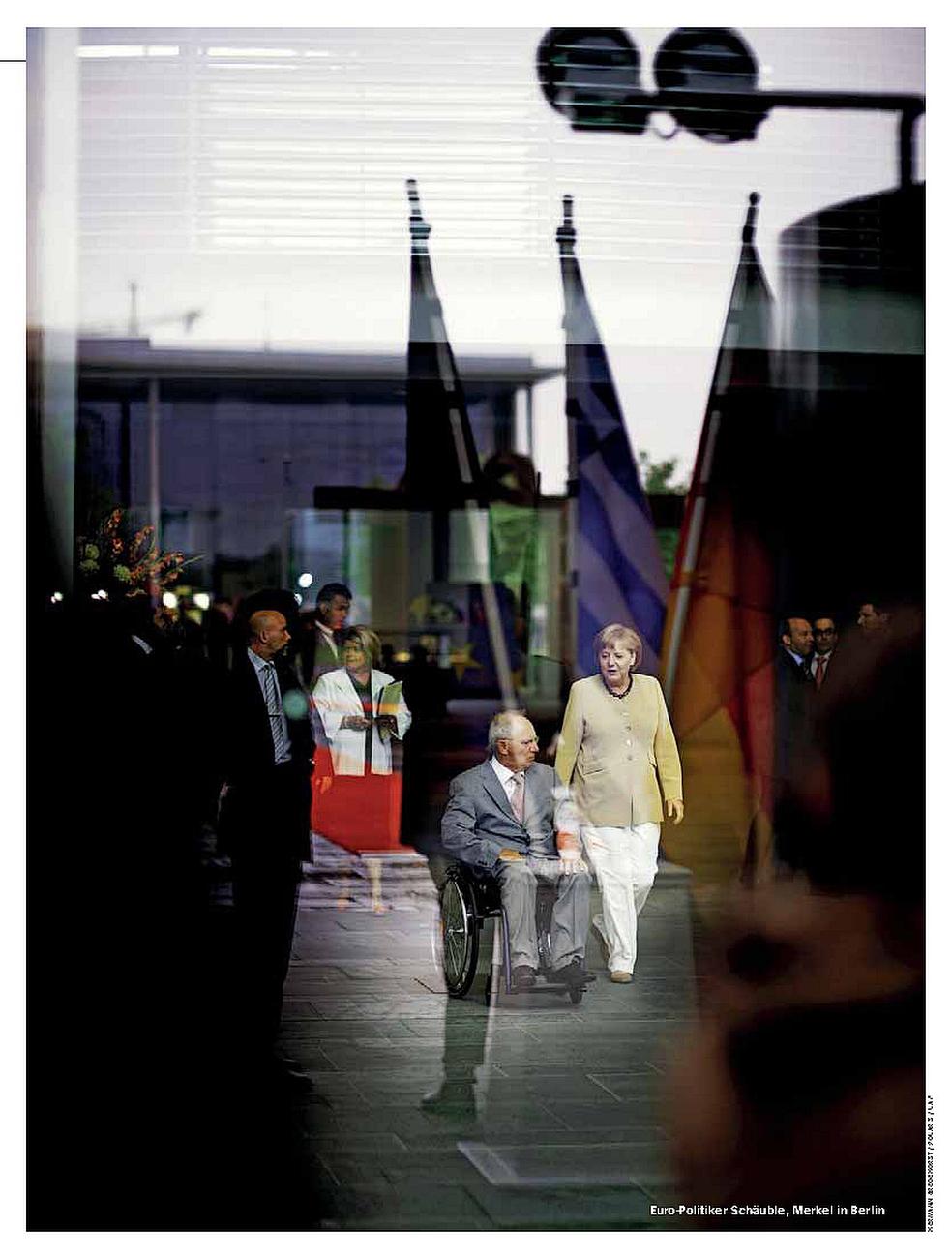 SPIEGEL, Germany, 26.08.2013, German Chancellor Angela Merkel and German Minister of Finance Wolfgang Schaeuble