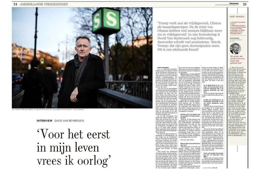 De Standaard, Belgium, David Van Reybrouck