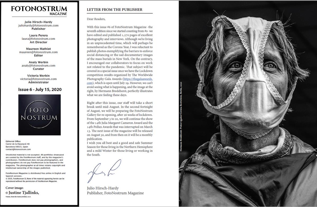 Spain, Fotonostrum Magazine Issue No6 Editorial, Corona Protest Berlin