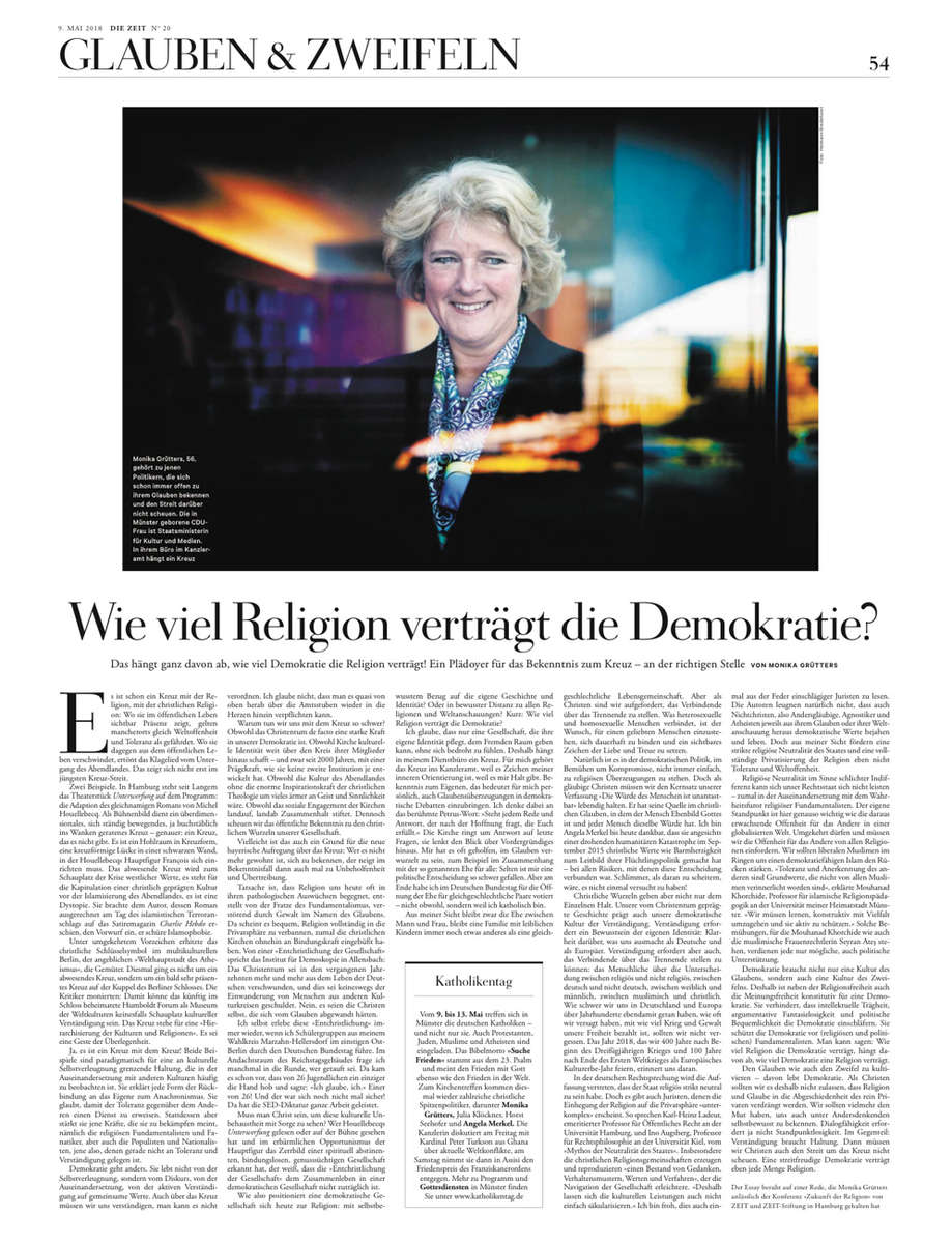 Die Zeit, Germany, Monika Gruetters
