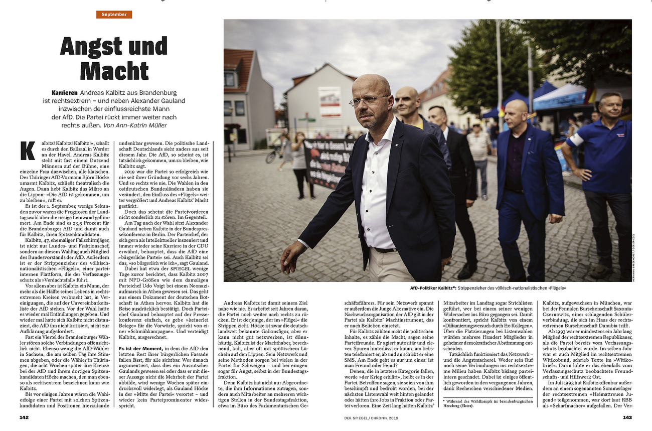 SPIEGEL, Germany,  Chronik 2019 Kalbitz