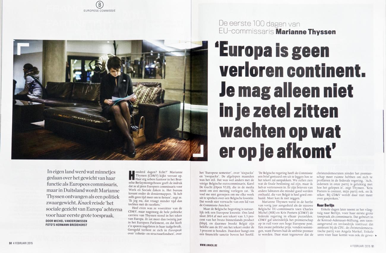 Knack, Belgium, Marianne Thyssen, 04.02.2015