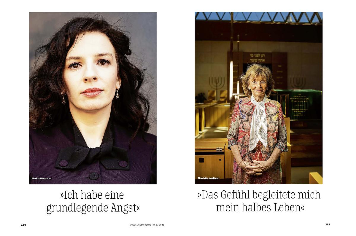 SPIEGEL Geschichte Anti-Semitism Interview  with Marina Weisband and Charlotte Knobloch
