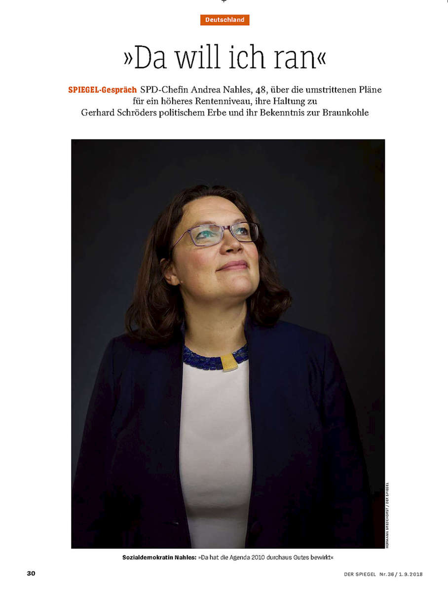 Andrea Nahles, SPIEGEl Germany