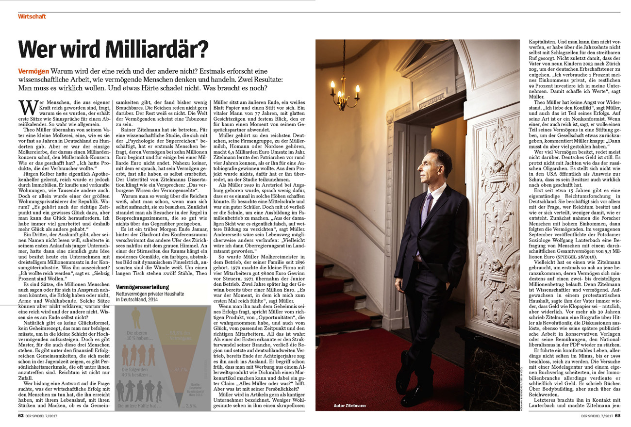 SPIEGEL, Germany, Dr. Dr. Rainer Zittelmann, self-made millionaire