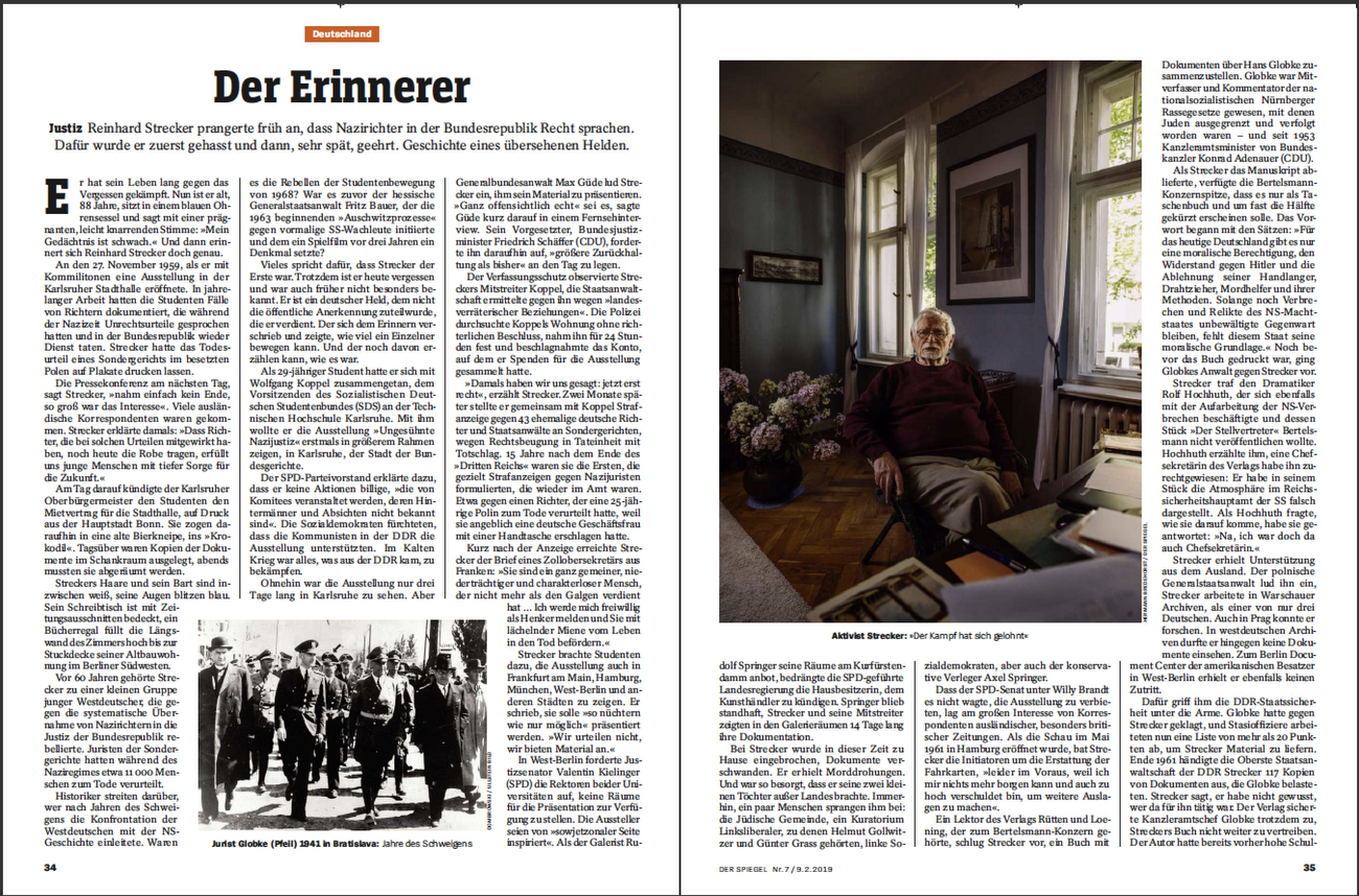 SPIEGEL Germany, Reinhard Strecker
