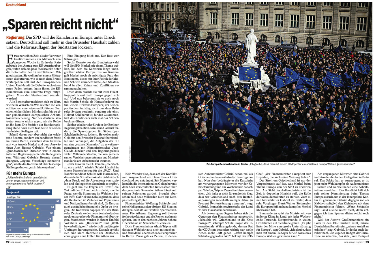 SPIEGEL, Germany, Pulse Of Europe Demonstration