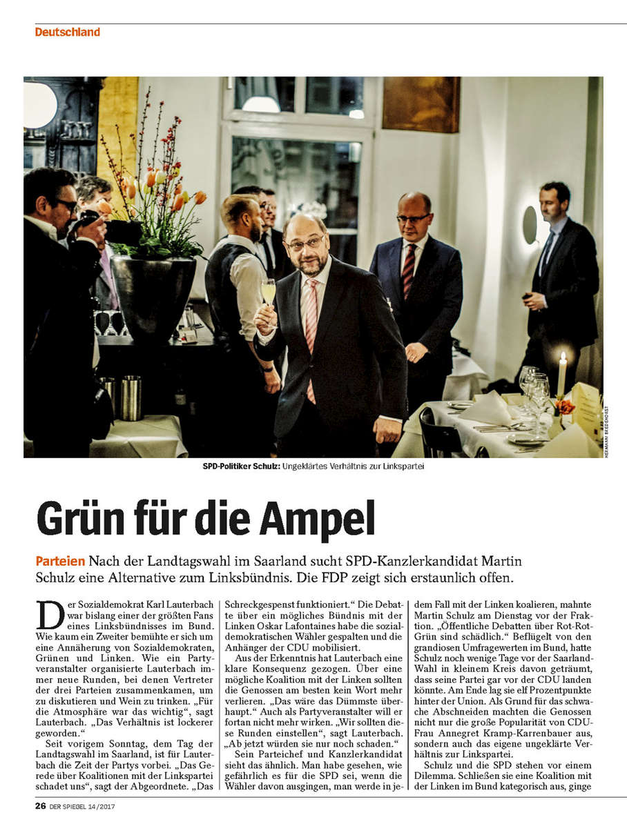 SPIEGEL, Germany, Martin Schulz, SPD Candidate for Chancellor