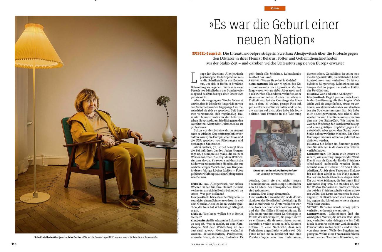 Germany,  DER SPIEGEL, Swetlana Alexijewitsch