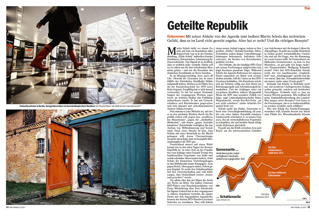 SPIEGEL, Germany, Cover Story, Geteilte Republik