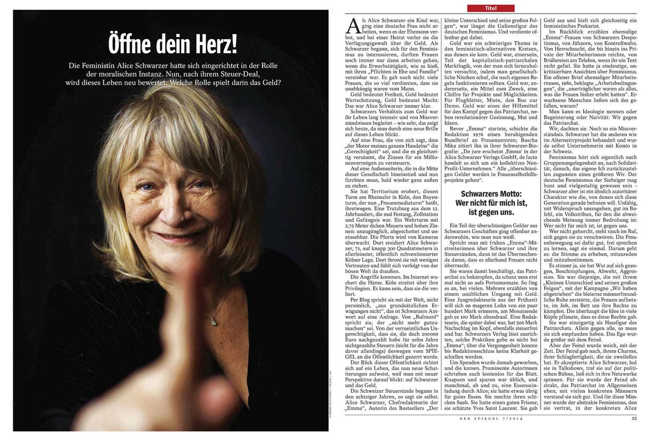 SPIEGEL, Germany, Alice Schwarzer, Feminist, 10.02.2014