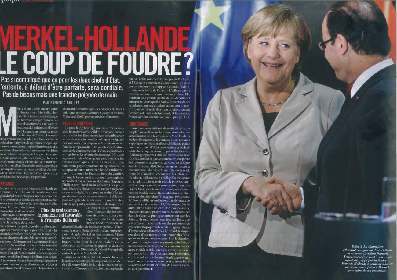 VSD Magazin, France, Merkel-Hollande, 06/2012
