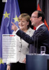 Merkel and Hollande meet in Berlin, Tribune, Netherlands, June 2012