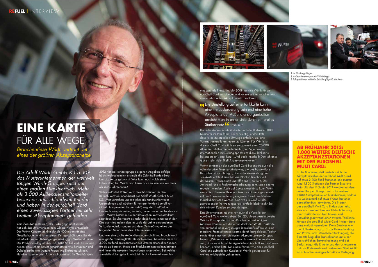 SHELL Euroshell Refuel Magazin Germany Issues 2 feb 2013