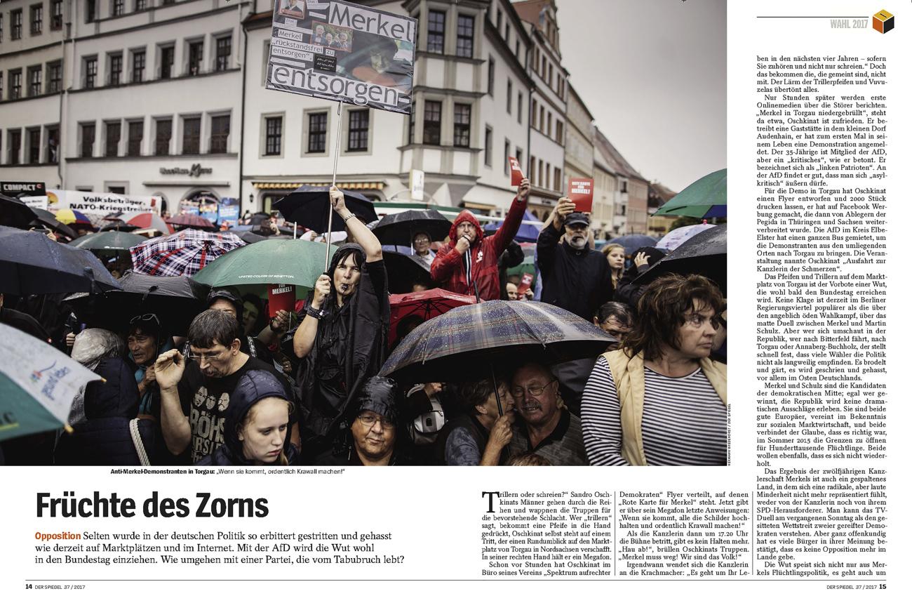 SPIEGEL, Anti Merkel Protests,Torgau