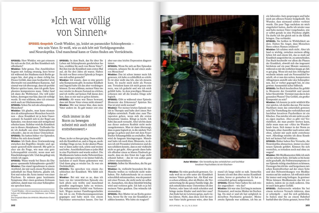 SPIEGEL Germany, Cordt Winkler