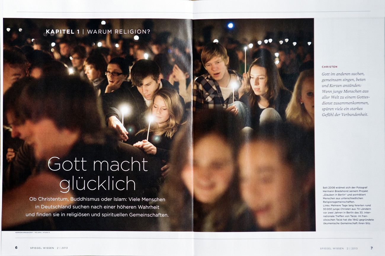 Spiegel Wissen, Germany, May 07 2013, You Never Walk Alone, Berlin believers - Glauben in Berlin, Taize Christian