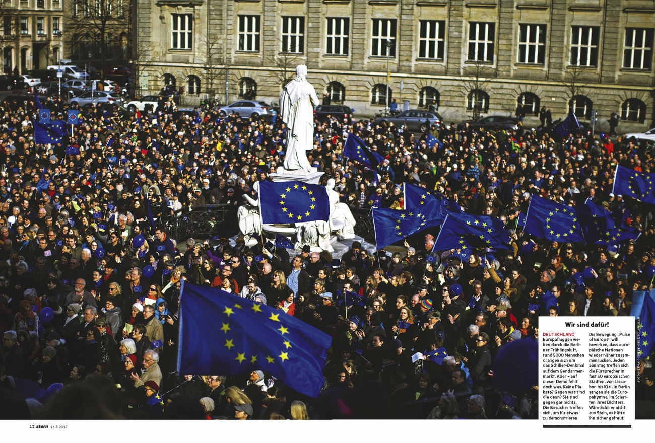 STERN Germany, picture of the week Pro Europe Demonstration