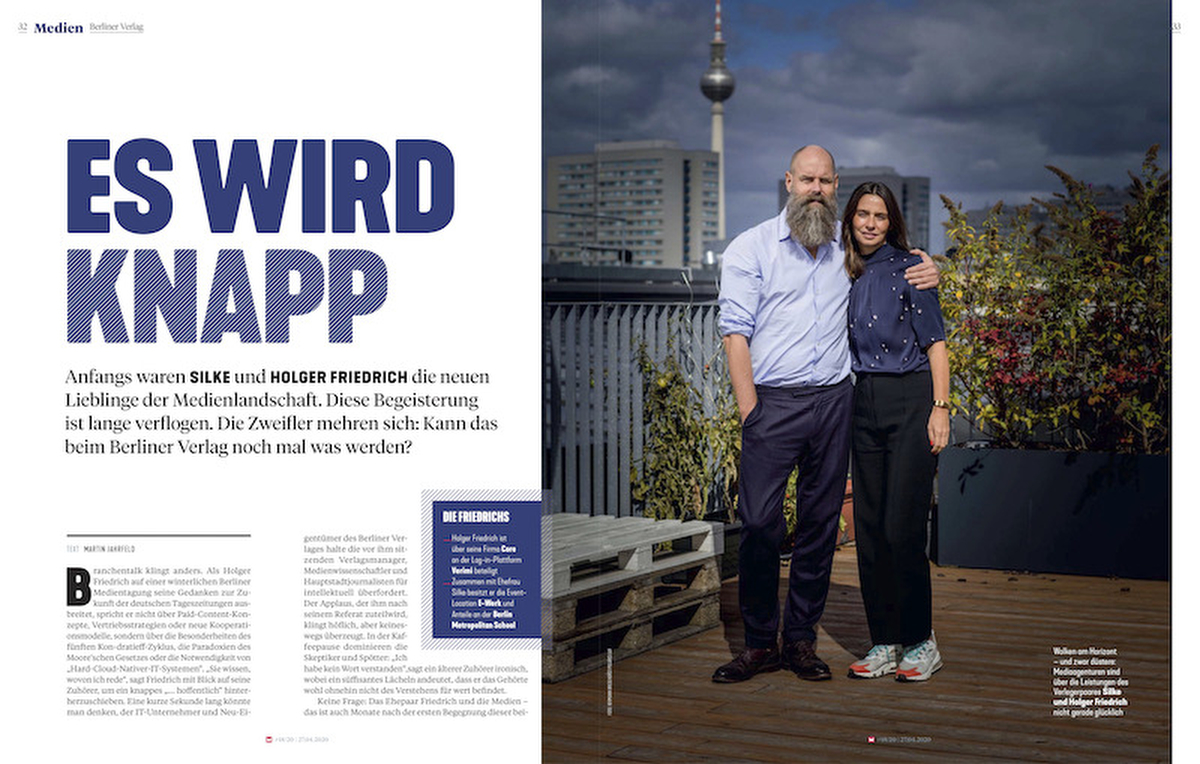 Germany, Medien Berlienr Verlag: Silke and Holger Friedrich, Entrepreneurs