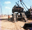 The M48A3 A37 is lifted onto a flatbed by 2 M88 VTRs to be shipped off to probably be retrofitted for a new life.  Stripped down the M48 weighed in at 52 tons.  The replacement tanks for the M48s were M551 Sheridans that weighed in at 17 tons.