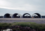 Tan Son Nhut Air Base with concrete covers to protect Lockheed F-104 Starfighters.