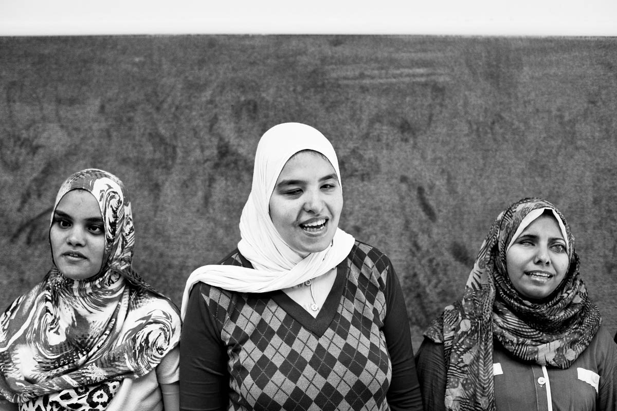 Somaia (Left) and Heba (Middle) know each other from the choir at {quote}Banat AL Noor{quote} Association, they sing Egyptian songs, every week there is a rehearsal gathering all the girls on Saturday. They've been very active doing concerts in Alexandria lately
