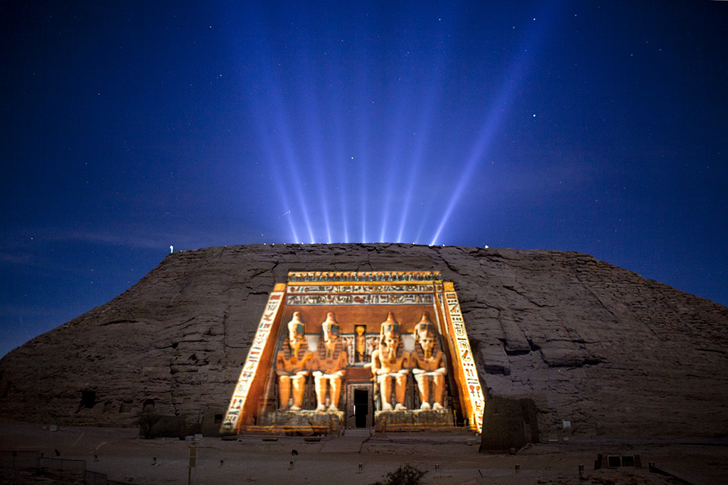 Abu Simbel Temple sound & Light show, Egypt, 2013