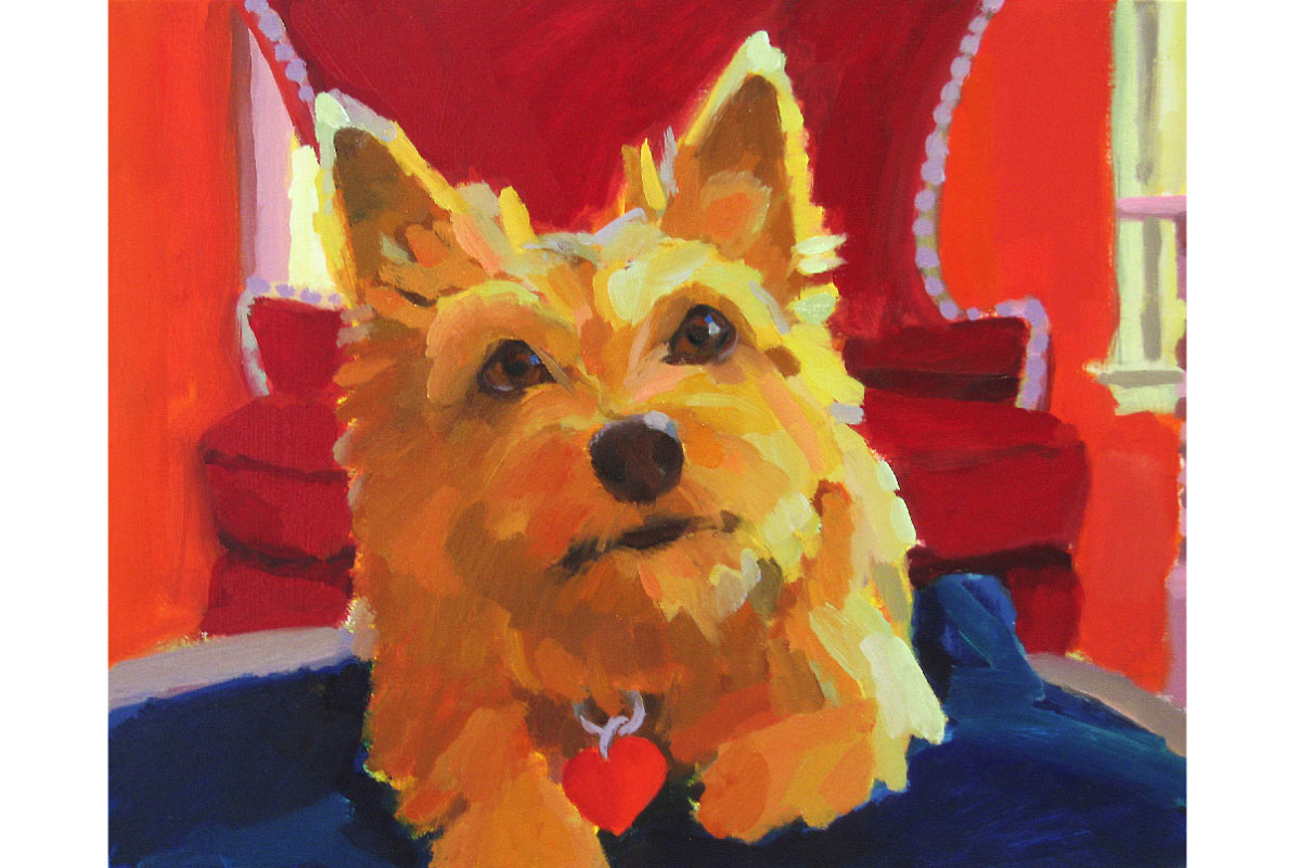 Ruby : In the Collection of the Artist :  Inquire about pet portraiture
