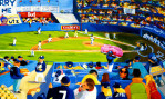 Yankee Stadium : 1998. 36{quote} X 24{quote} Oil. In the Collection of Gerry Heimbuch