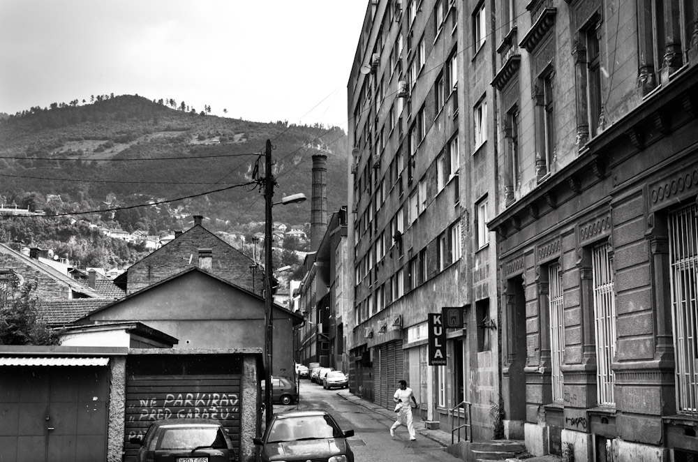 The Sarajevska Pivara brewery (back right corner), at one time, was the only source of water for besieged Sarajevans during the 1992-1995 war. It, too, was bombed.