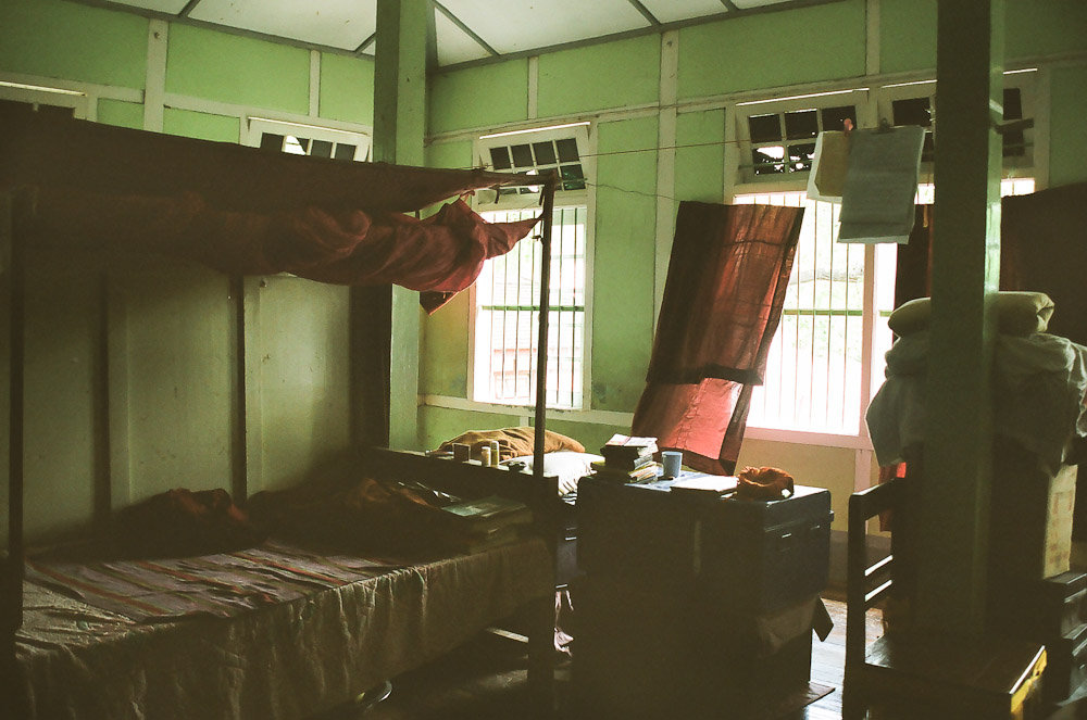 A monk's bedroom.