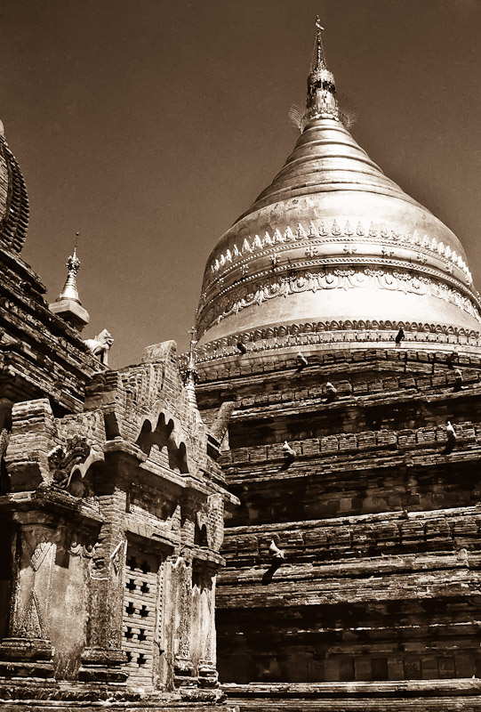 A view of the temples of Bagan.