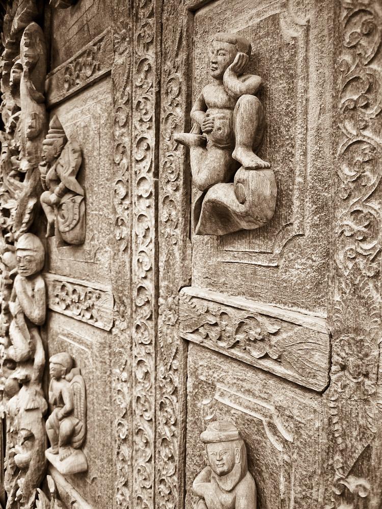 Detail, Teak House.