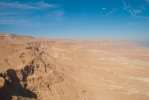 A view from Masada overlooking the desert.