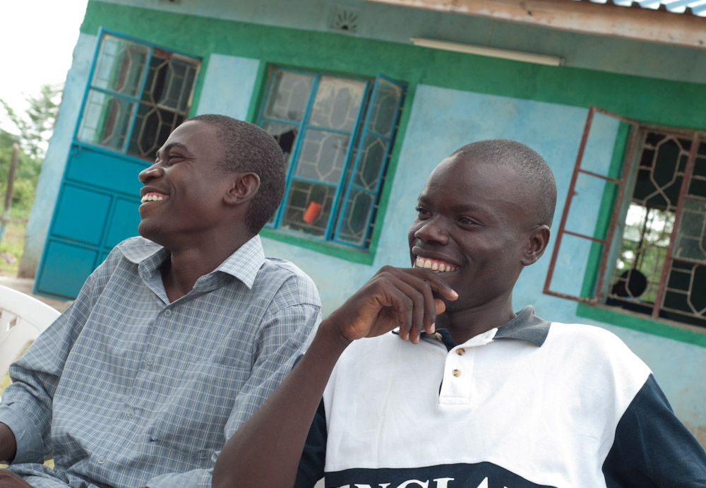 Steve (left) and George (right), ages 20 and 22, are both orphans and STARS graduates. Steve wants to become a teacher and, George, a rural electrification technician.